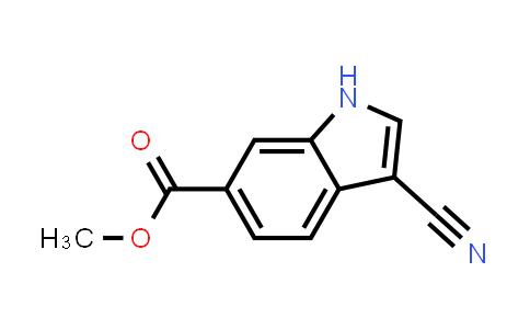 3-cyano-1H-Indole-6-carboxylic acid methyl ester