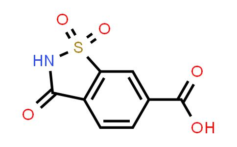 3-OXO-2,3-DIHYDRO-1,2-BENZISOTHIAZOLE-6-CARBOXYLIC ACID 1,1-DIOXIDE