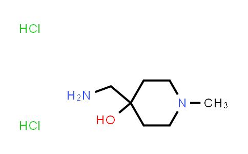4-(aminomethyl)-1-methyl-4-Piperidinol, hydrochloride (1:2)