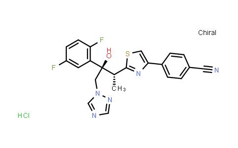 4-[2-[(1R,2R)-2-(2,5-Difluorophenyl)-2-hydroxy-1-methyl-3-(1H-1,2,4-triazol-1-yl)propyl]-4-thiazolyl]benzonitrile hydrochloride (1:1)
