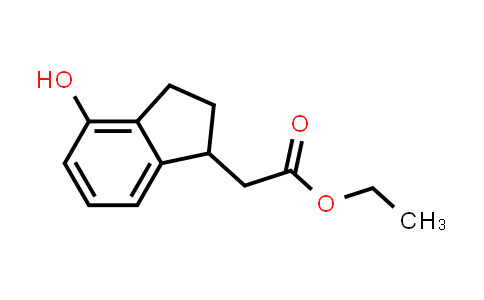 ethyl 2-(4-hydroxy-2,3-dihydro-1H-inden-1-yl)acetate