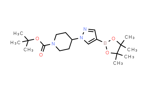 tert-Butyl4-[4-(4,4,5,5-tetramethyl-1,3,2-dioxaborolan-2-yl)-1H-pyrazol-1-yl]piperidine-1-carboxylate