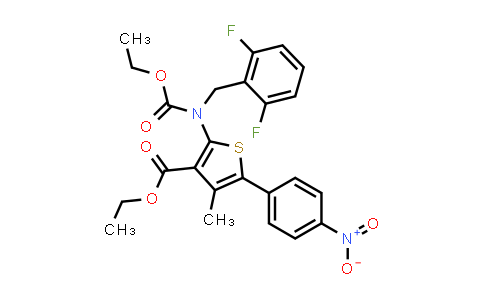 ethyl 2-((2,6-difluorobenzyl)(ethoxycarbonyl)amino)-4-methyl-5-(4-nitrophenyl)thiophene-3-carboxylate