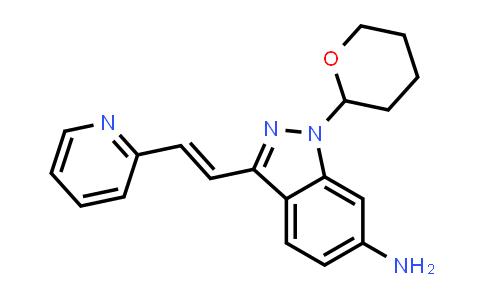 (E)-3-[2-(Pyridin-2-yl)ethenyl]-1-(tetrahydro-2H-pyran-2-yl)-1H-indazol-6-amine