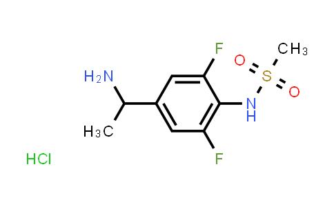 N-[4-(1-amino-ethyl)-2,6-difluoro-phenyl]-methanesulfonamide hydrochloride