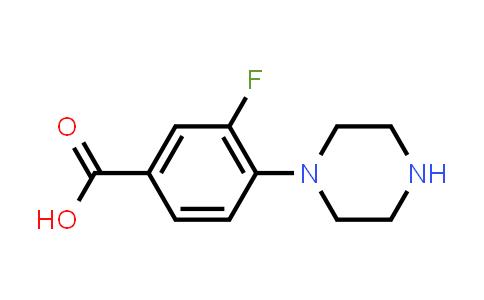 3-Fluoro-4-piperazinobenzoic Acid