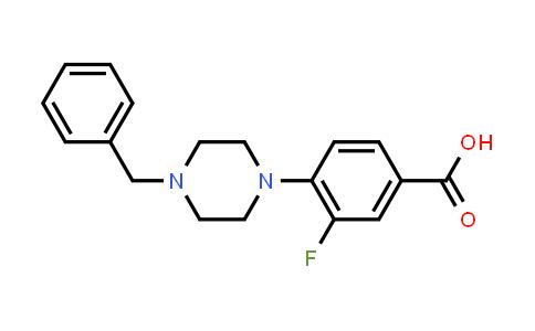 4-(4-Benzyl-1-piperazinyl)-3-fluorobenzoic Acid