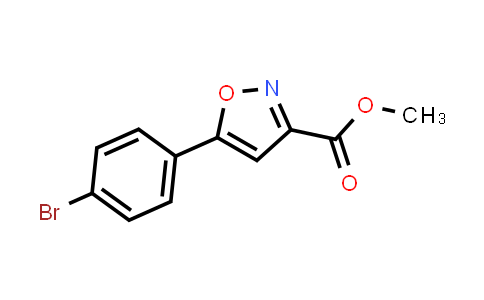 METHYL 5-(4-BROMOPHENYL)ISOXAZOLE-3-CARBOXYLATE