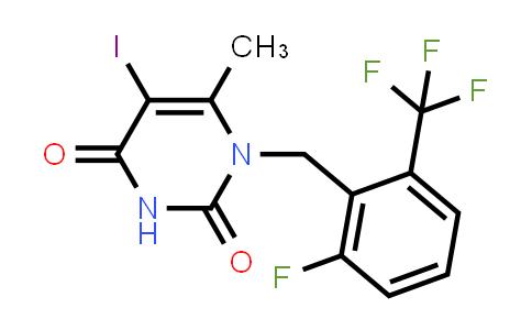 1-(2-Fluoro-6-trifluoromethyl-benzyl)-5-iodo-6-methyl-1H-pyrimidine-2,4-dione