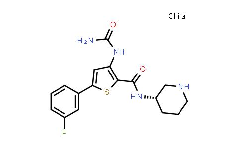 3-[(Aminocarbonyl)amino]-5-(3-fluorophenyl)-N-(3S)-3-piperidinyl-2-Thiophenecarboxamide