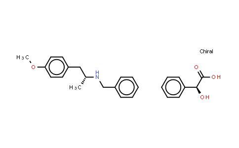 (2S)-羟基(苯基)乙酸 (2R)-N-苄基-1-(4-甲氧基苯基)丙-2-胺盐