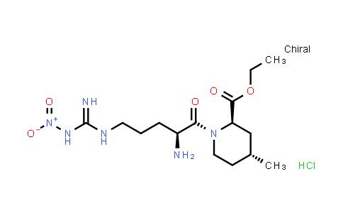 1-[2-氨基基-5-[[亚氨基(硝基氨基)甲基]氨基]-1-氧戊基]-4-甲基-2-哌啶羧酸乙酯盐酸盐,[2R-[1(S*),2Α,4Β]]