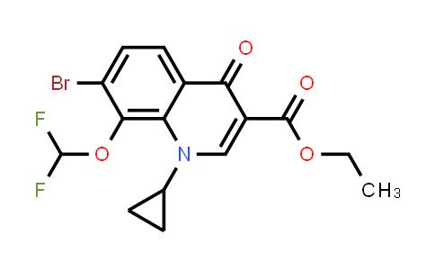 Ethyl 7-bromo-1-cyclopropyl-8-(difluoromethoxy)-4-oxo-1,4- dihydroquinoline-3-carboxylate
