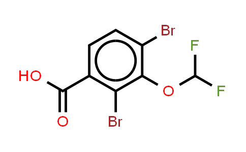 2,4-dibromo-3-(difluorometho-xy)benzoic acid