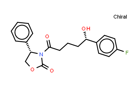 Ezetimibe impurity (3-[5-(4-Fluoro-phenyl)-5-(S)-hydroxy-pentanoyl]-4-(R)-phenyl-oxazolidin-2-one)