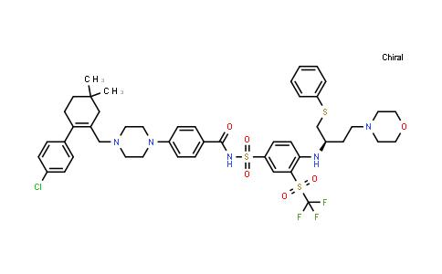 (R)-4-(4-((4'-chloro-4,4-dimethyl-3,4,5,6-tetrahydro-[1,1'-biphenyl]-2-yl)methyl)piperazin-1-yl)-N-((4-((4-morpholino-1-(phenylthio)butan-2-yl)amino)-3-((trifluoromethyl)sulfonyl)phenyl)sulfonyl)benzamide