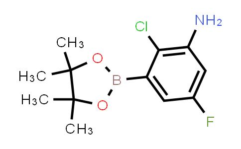 2-chloro-5-fluoro-3-(4,4,5,5-tetramethyl-1,3,2-dioxaborolan-2-yl)aniline