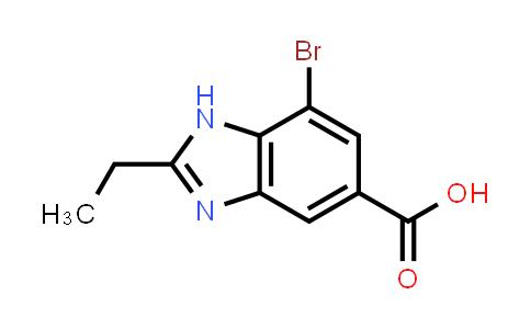 7-Bromo-2-ethyl-1H-benzo[d]imidazole-5-carboxylic acid