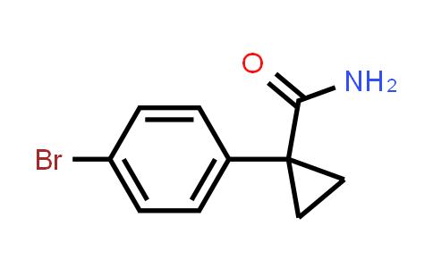 1-(4-bromophenyl)cyclopropanecarboxamide