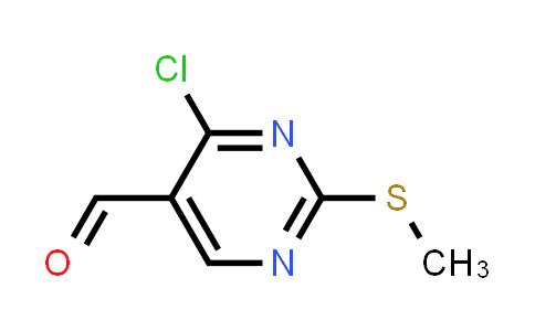 4-Chloro-2-(methylthio)pyrimidine-5-carboxaldehyde