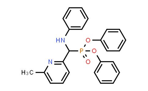 Phosphonic acid, P-[(6-Methyl-2-pyridinyl)(phenylaMino)Methyl]-, diphenyl ester