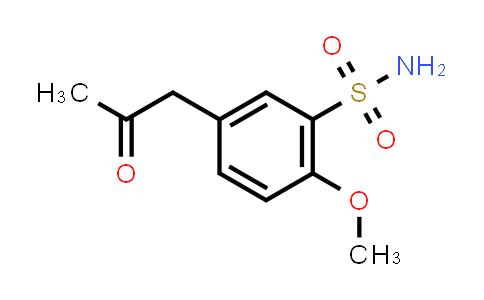 5-Acetonyl-2-methoxybenzene sulfonamide