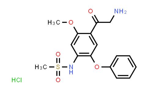 N-(4-(2-aminoacetyl)-5-methoxy-2-phenoxyphenyl)methanesulfonamide hydrochloride