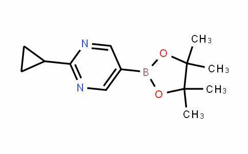 2-cyclopropyl-5-(4,4,5,5-tetramethyl-1,3,2-dioxaborolan-2-yl)pyrimidine