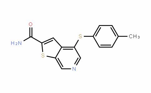 4-(p-tolylthio)thieno[2,3-c]pyridine-2-carboxamide