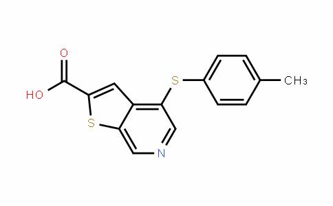 4-(p-tolylthio)thieno[2,3-c]pyridine-2-carboxylic acid