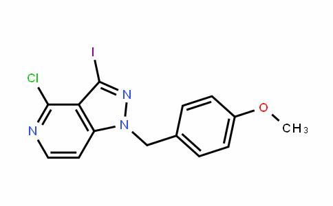 4-chloro-3-iodo-1-(4-methoxybenzyl)-1H-pyrazolo[4,3-c]pyridine