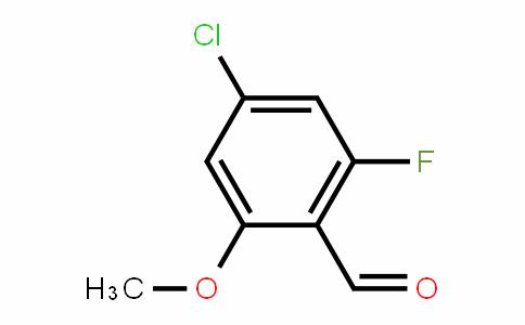 4-chloro-2-fluoro-6-methoxybenzaldehyde