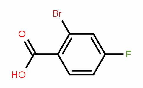 2-Bromo-4-fluorobenzoic acid