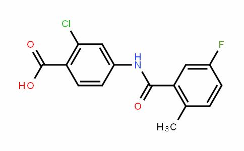 2-Chloro-4-[(5-fluoro-2-methylbenzoyl)amino]-benzoic acid