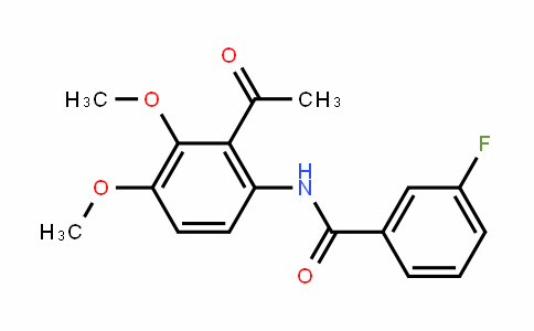 N-(2-acetyl-3,4-dimethoxyphenyl)-3-fluorobenzamide