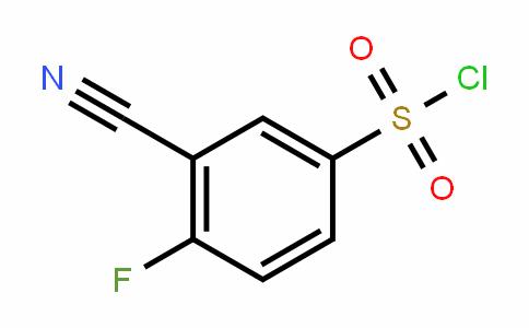 3-Cyano-4-fluorobenzenesulfonyl chloride