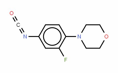 (3-fluoro-4-(morpholinyl)phenyl)isocyanate