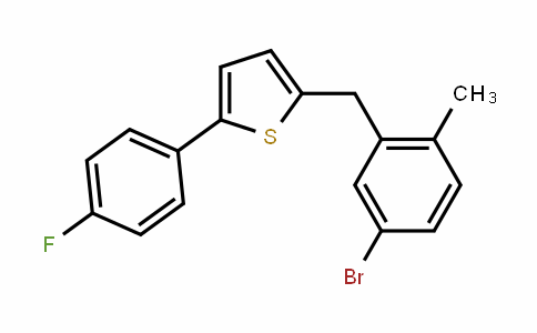 2-(4-fluorophenyl)-5-[(5-bromo-2-methylphenyl)methyl]thiophene