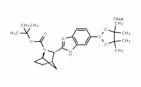 (1R,3S,4S)-3-[6-(4,4,5,5-Tetramethyl-1,3,2-dioxaborolan-2-yl)-1H-benzimidazol-2-yl]-2-azabicyclo[2.2.1]heptane-2-carboxylic acid 1,1-dimethylethyl ester