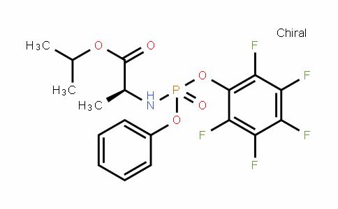 N-[(S)-(2,3,4,5,6-Pentafluorophenoxy)phenoxyphosphinyl]-L-alanine 1-methylethyl ester