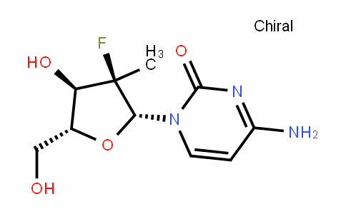2'-deoxy-2'-fluoro-2'-C-methylcytidine
