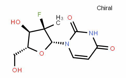 2'-deoxy-2'-fluoro-2'-C-methyluridine