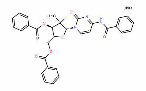 (2'R)-N-Benzoyl-2'-deoxy-2'-fluoro-2'-methylcytidine 3',5'-dibenzoate