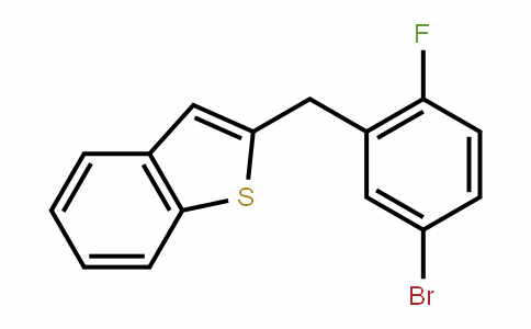 Benzo[b]thiophene, 2-[(5-broMo-2-fluorophenyl)Methyl]-