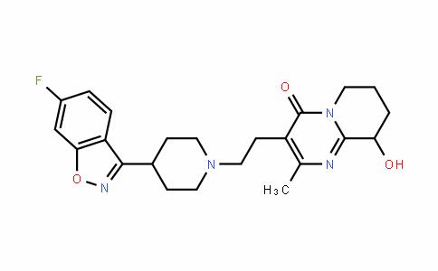 4H-Pyrido[1,2-a]pyrimidin-4-one, 3-[2-[4-(6-fluoro-1,2-benzisoxazol-3-yl)-1-piperidinyl]ethyl]-6,7,8,9-tetrahydro-9-hydroxy-2-methyl-