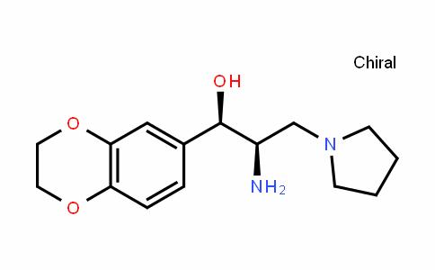 (1R,2R)-2-Amino-1-(2,3-dihydrobenzo[b][1,4]dioxin-6-yl)-3-(pyrrolidin-1-yl)propan-1-ol