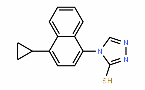 4-(4-Cyclopropylnaphthalen-1-yl)-4H-1,2,4-triazole-3-thiol