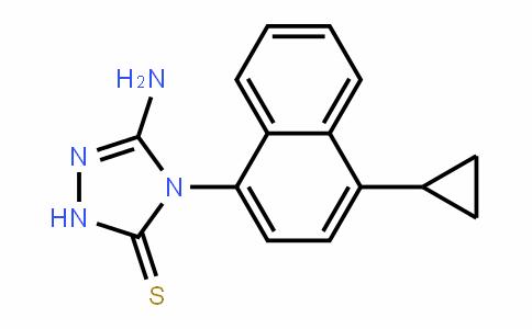 5-amino-4-(4-cyclopropyl-1-naphthalenyl)-2,4-dihydro-3H-1,2,4-Triazole-3-thione