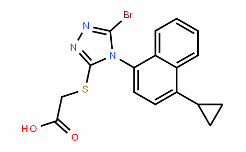 2-[[5-BroMo-4-(4-cyclopropylnaphthalen-1-yl)-4H-1,2,4-triazol-3-yl]thio]acetic acid