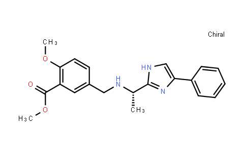 (S)-methyl 2-methoxy-5-((1-(4-phenyl-1H-imidazol-2-yl)ethylamino)methyl)benzoate